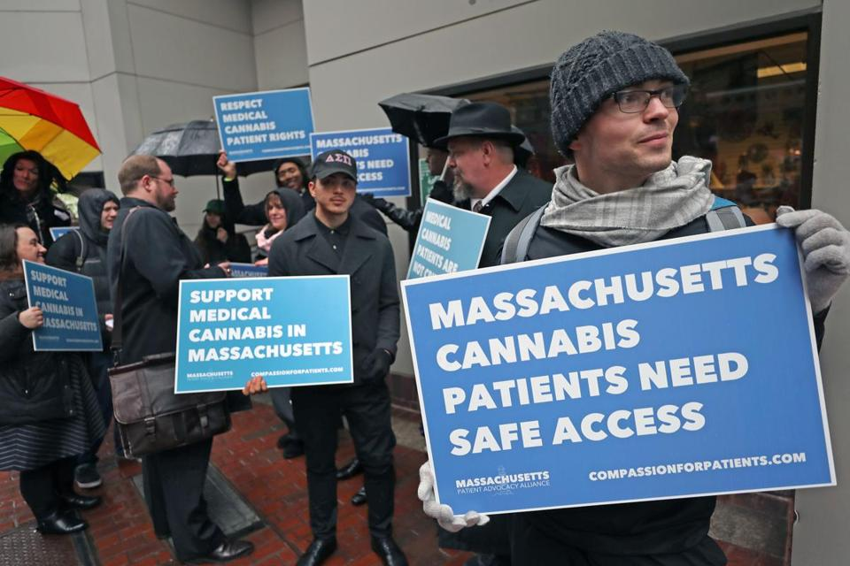 Medical Marijuana advocates rallied before a public meeting on proposed changes to the rules.
