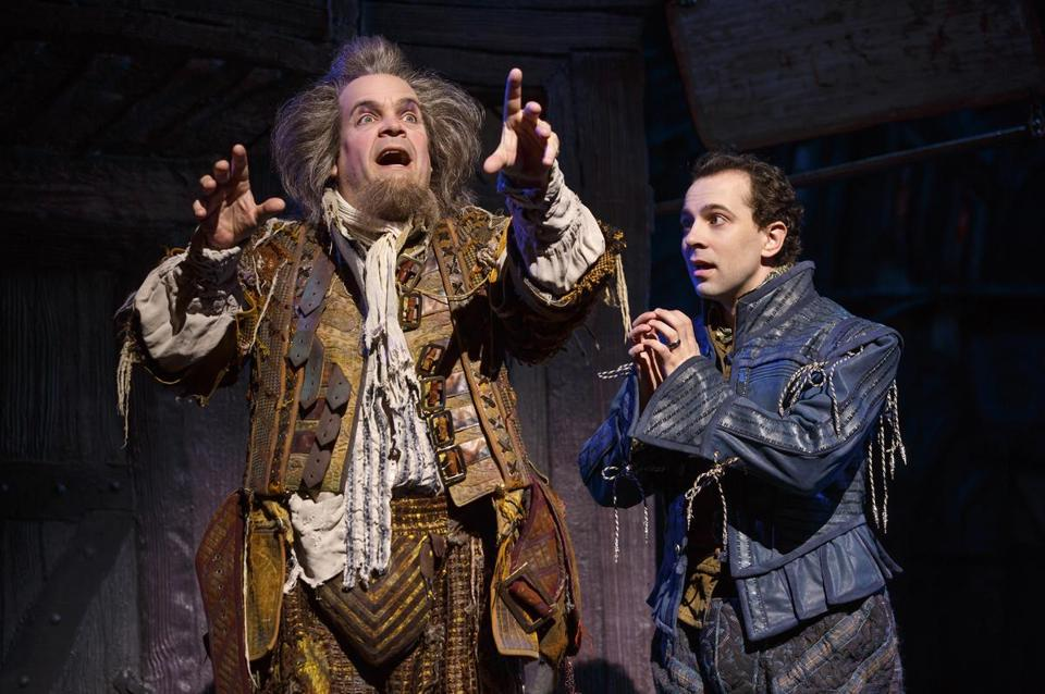 "Brad Oscar and Rob McClure in ""Something Rotten!"""