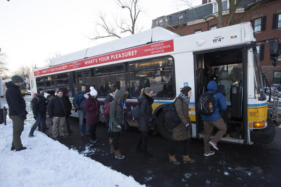 Transit advocates are hoping to bolster bus commuting's image. Nearly 450,000 riders take an MBTA bus each day.