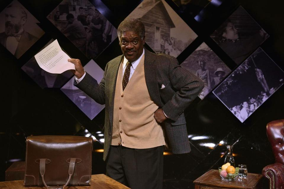 "Johnny Lee Davenport as Thurgood Marshall in New Repertory Theatre's production of ""Thurgood."""