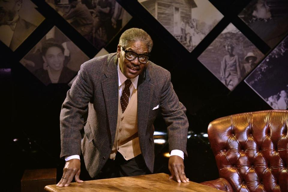 "Johnny Lee Davenport as Thurgood Marshall in New Rep's ""Thurgood."""