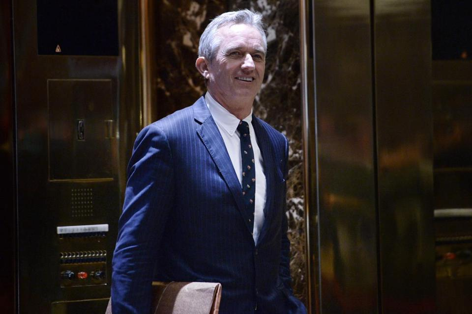 Robert F. Kennedy Jr. in the lobby of the Trump Tower in New York on Tuesday.