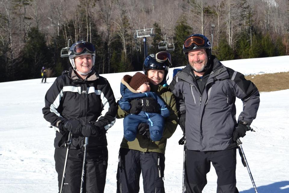 Members of the Wright clan gathered for a multi-generational ski vacation in