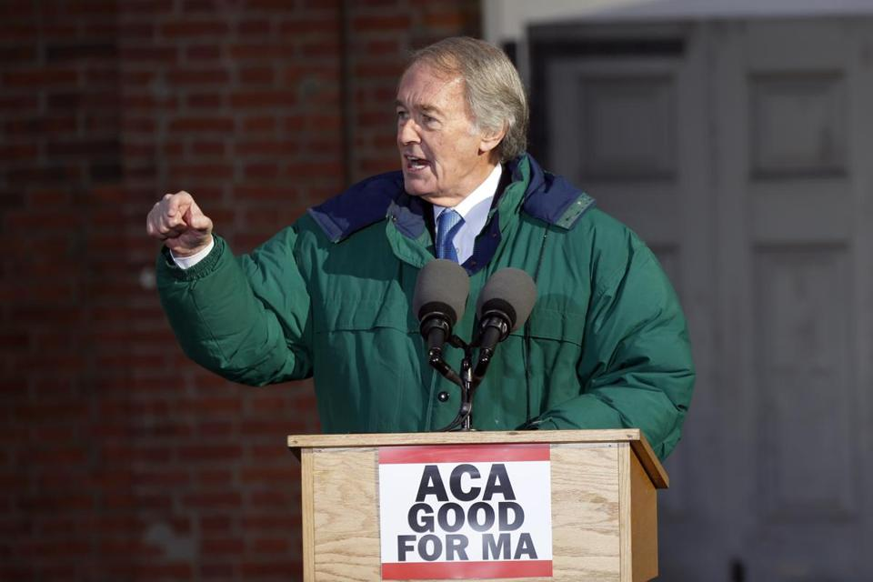 Senator Ed Markey in Boston earlier this month.