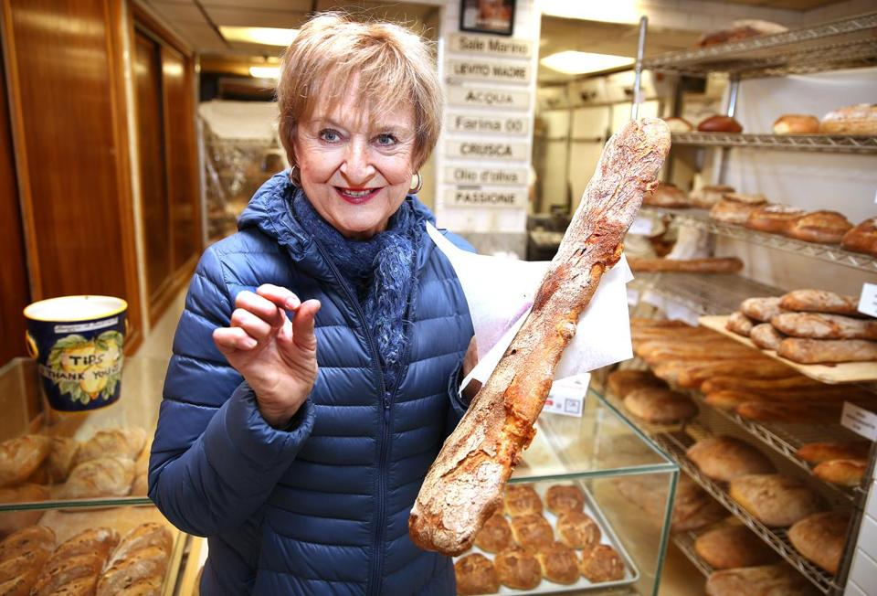 Boston, MA - 1/15/2017 - Michele Topor (cq) runs Boston Food Tours (cq). She is photographed in Bricco Panetteria (cq), in the North End. Photo by Pat Greenhouse/Globe Staff Topic: 012917NorthEnd Reporter: Merry White and Gus Rancatore