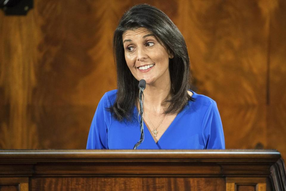 "One liberal pundit wondered about Trump's process for selecting Cabinet members. ""Why is Nikki Haley (above) the ambassador to the United Nations?"""