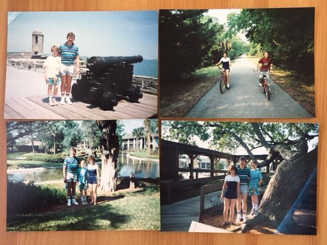 Photos from the Gorey family's timeshare days..