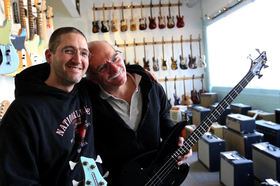 Jon and Jim Mouradian built and repaired guitars in several shops, including in Winchester.