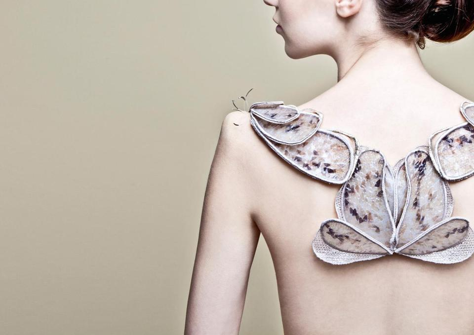 "An Amy Congdon back piece from ""CODED_COUTURE."""