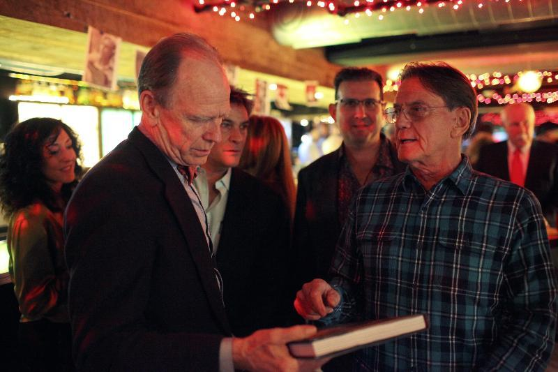 Livingston Taylor (left) with Don Law at the Verb Hotel.