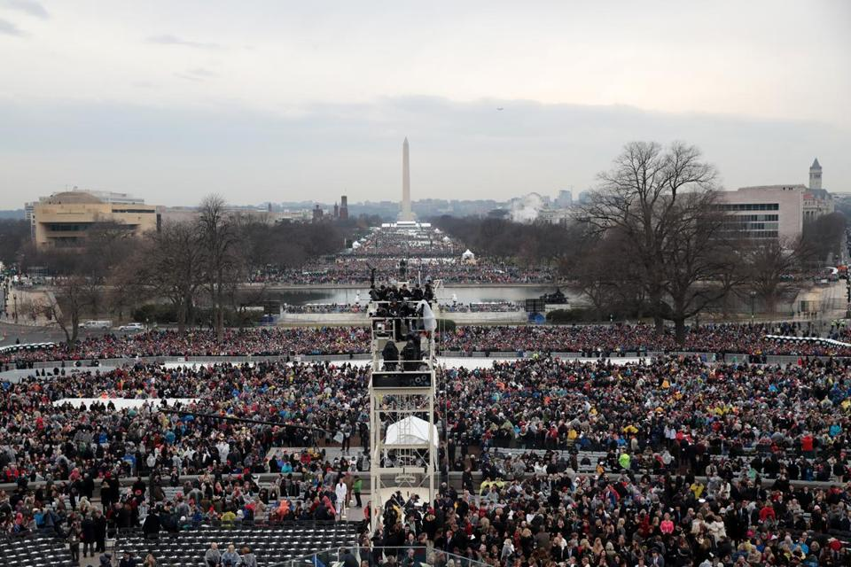 Spectators filled the National Mall.