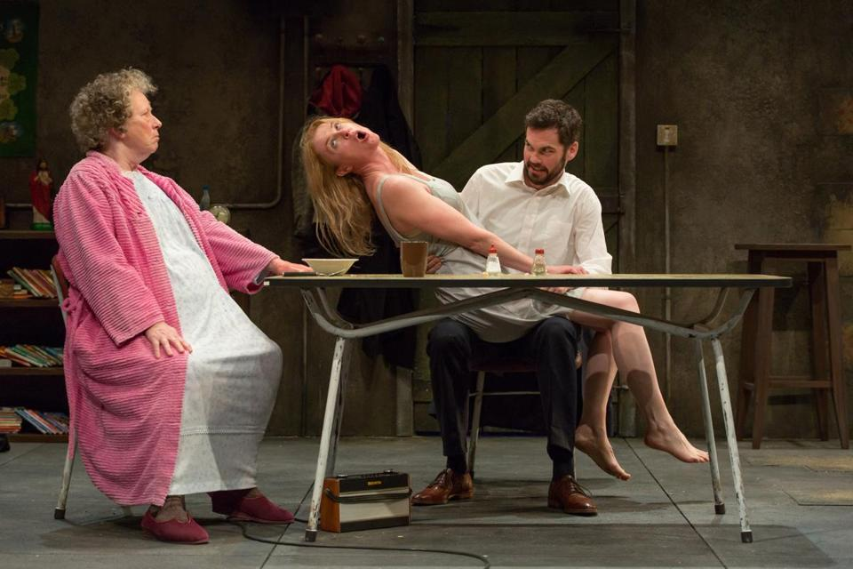 "Marie Mullen, Aisling O'Sullivan, and Marty Rea in ""The Beauty Queen of Leenane."""