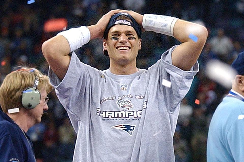 Image result for brady first super bowl