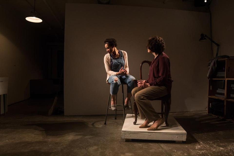 "Rachel Cognata and Kippy Goldfarb in Company One Theatre's production of ""Really."""