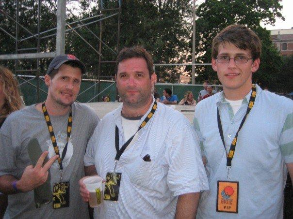 From left: Jeremy Sartori, Wyndham Lewis, and Christian Lewis at the Pitchfork Music Festival in 2006.