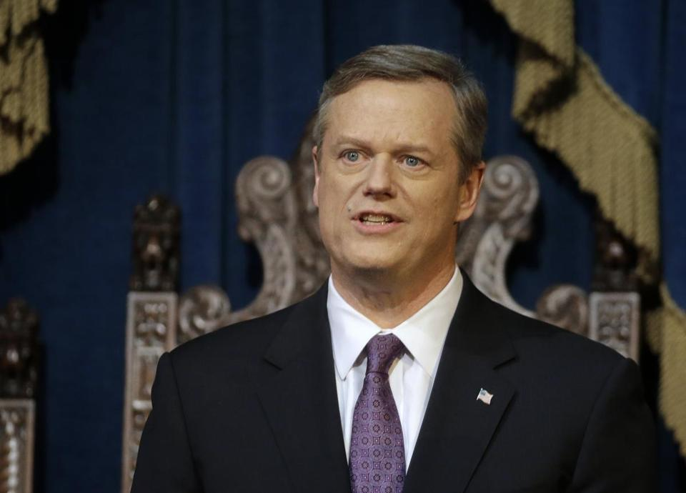 Governor Charlie Baker addressed a joint session of the Legislature during his State of the State address.