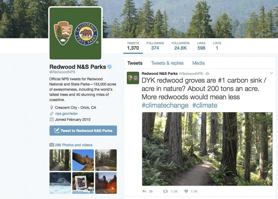A post from the National Park Service's Redwoods National Park account.