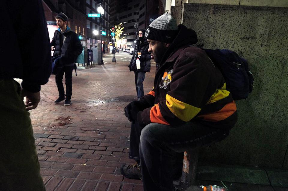 James Richard Taylor, Sr. met with Mayor Walsh during the city's annual Homeless census in January.