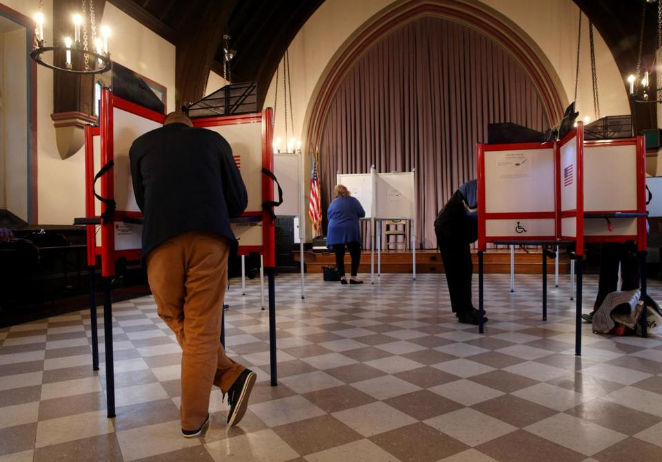 Newton residents voted at Grace Episcopal Church in November.