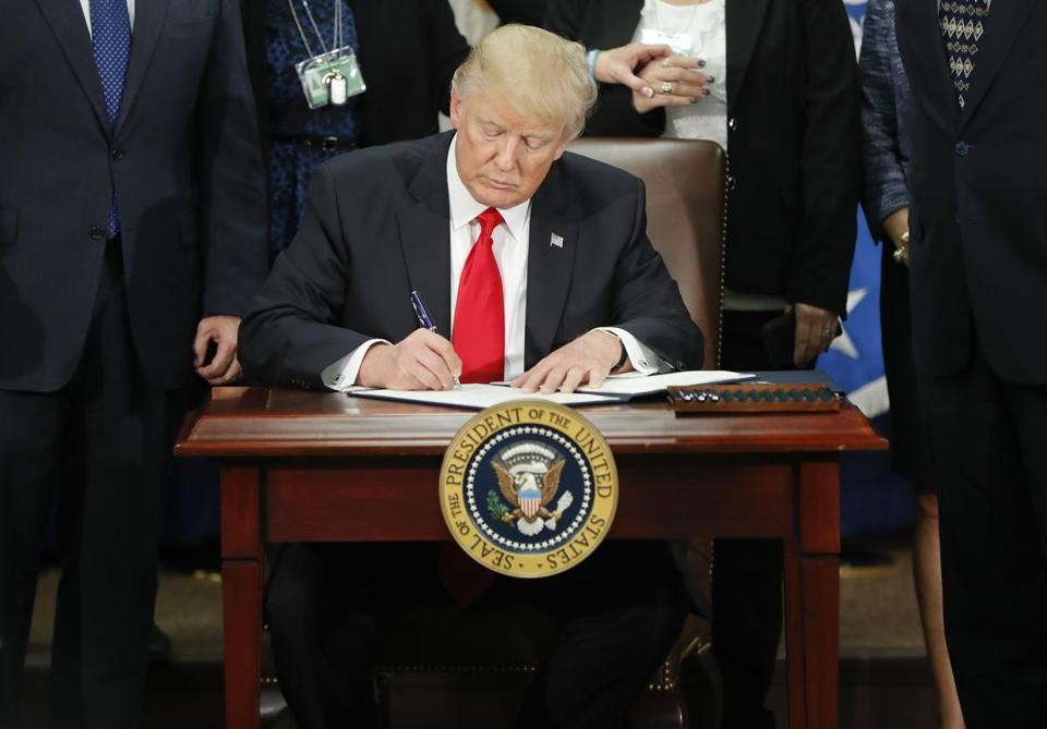 President Trump signed an executive order on border security and immigration enforcement.