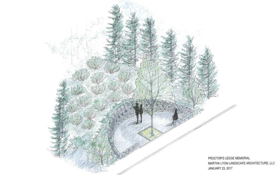 Salem officials released the final design for the Proctor's Ledge memorial this week.