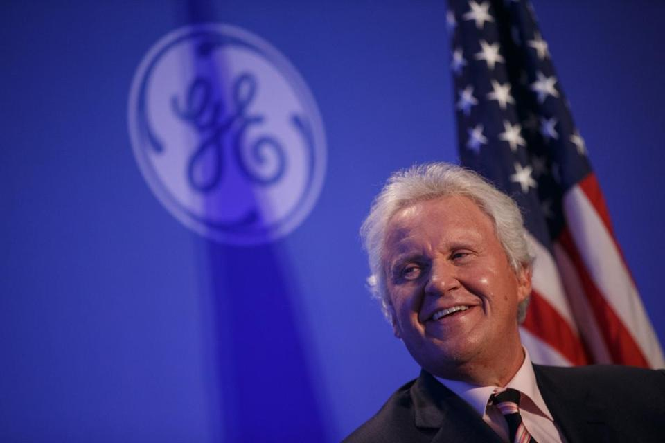 Boston, MA - 4/4/2016 - General Electric CEO Jeffrey R. Immelt speaks during a news conference in Boston, MA, April 4, 2016. (Keith Bedford/Globe Staff)