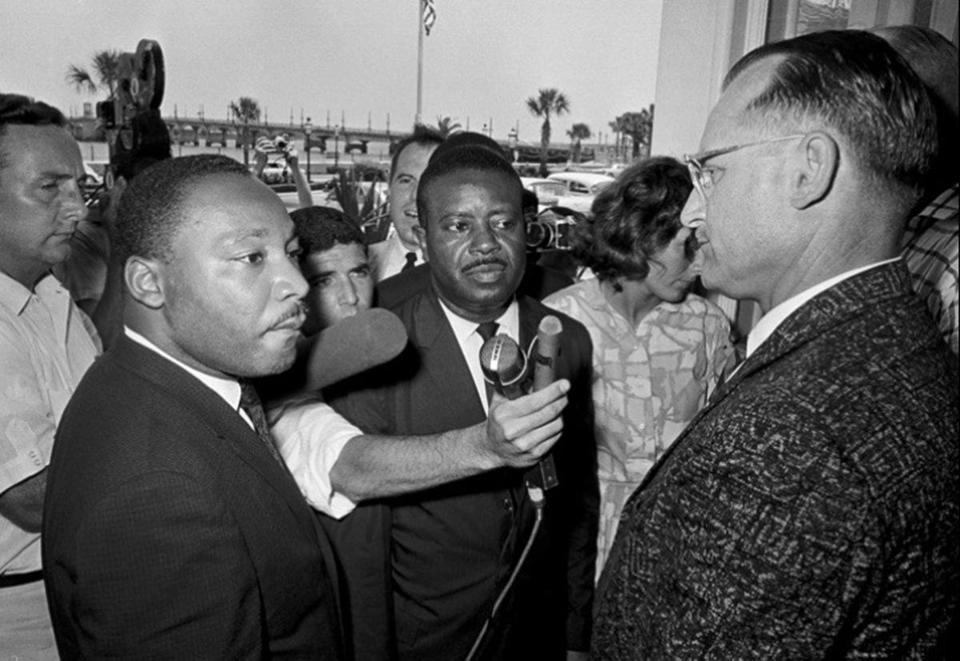 "Martin Luther King Jr. in St. Augustine, Fla., as seen in the documentary ""Passage at St. Augustine: The 1964 Black Lives Matter Movement That Transformed America."""