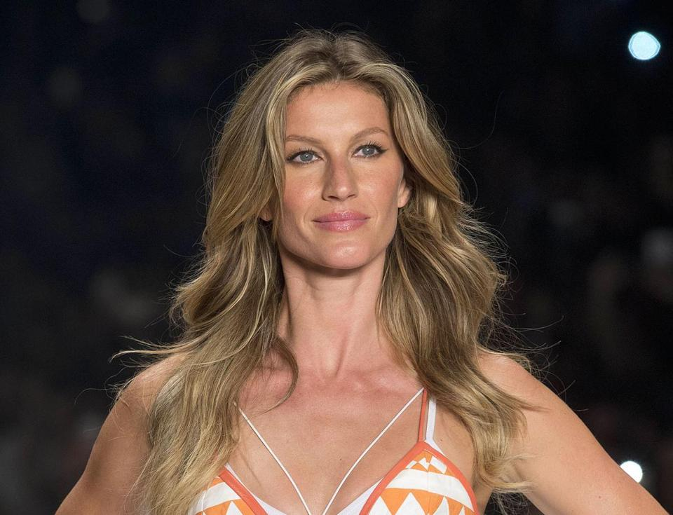 "FILE - In this April 15, 2015 file photo, Brazilian supermodel Gisele Bundchen wears a creation from the Colcci Summer collection at Sao Paulo Fashion Week in Sao Paulo, Brazil. The United Nations said Wednesday, May 25, 2016, that Bundchen has been named a goodwill ambassador as part of an unprecedented global campaign to fight the illegal trafficking of wildlife entitled ""Wild for Life."" (AP Photo/Andre Penner, File)"