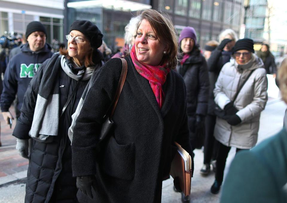 Boston-02/03/2017 ACLU of Massachusetts, Executive Director, Mary Rose enters Moakley Federal Court Friday morning for a hearing on it's lawsuit challenging Trump's executive order on immigration. John Tlumacki/The Boston Globe(metro)
