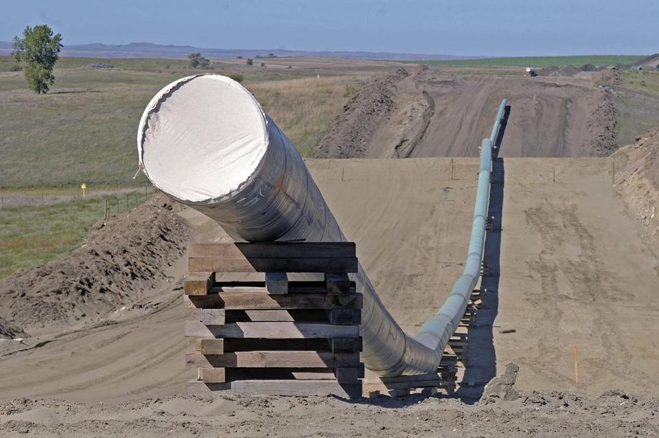 A section of the Dakota Access Pipeline under construction in North Dakota last September.