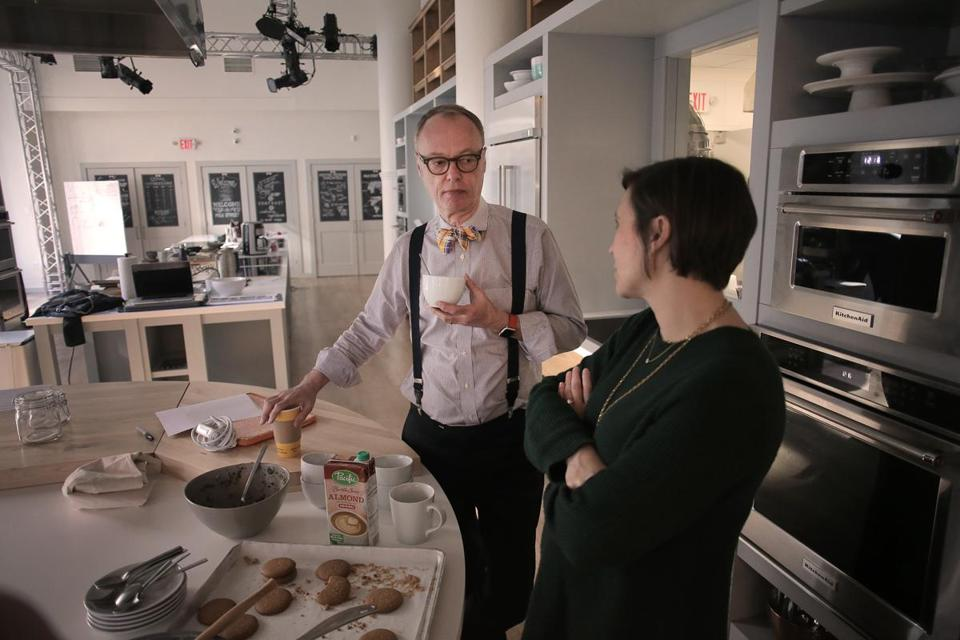 Christopher Kimball with wife and cofounder Melissa Baldino at Milk Street.