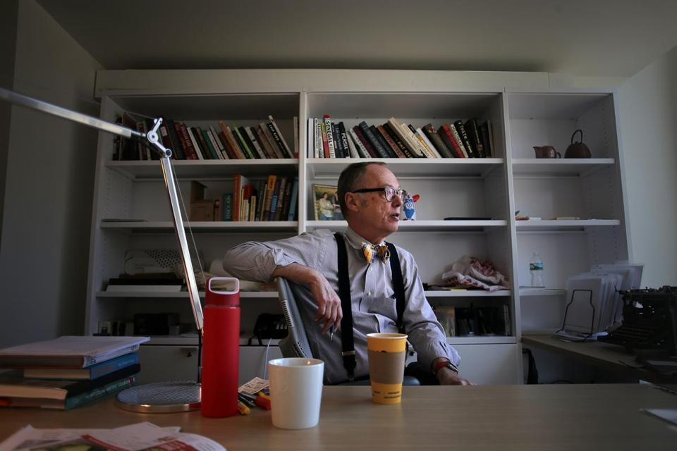 Christopher Kimball in his office at Christopher Kimball's Milk Street.