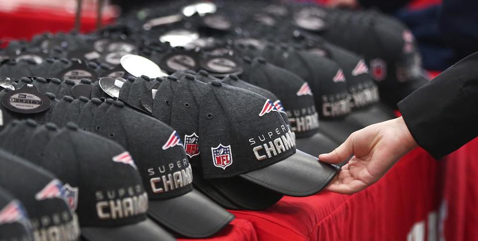 How do those Super Bowl hats make it to stores overnight  - The ... e6bdfbb4a68