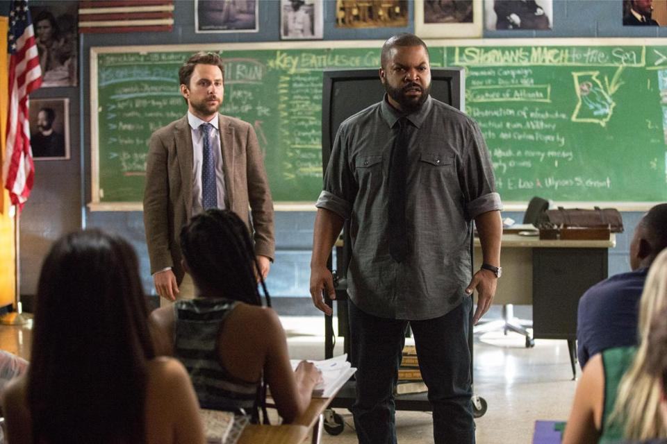 "Charlie Day and Ice Cube in ""Fist Fight."""