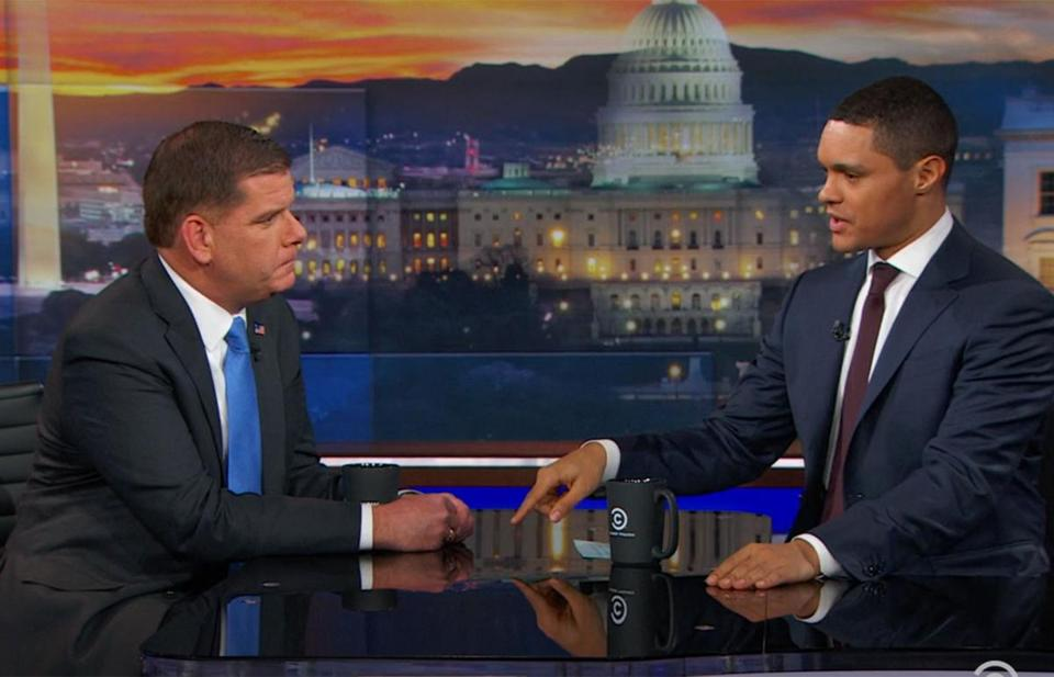 "Mayor Martin J. Walsh on ""The Daily Show."""