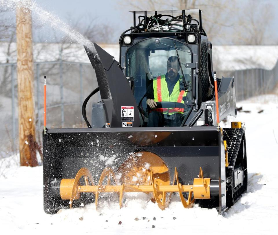This piece of new snow removal equipment was inspired by an idea from the MBTA's Machinist Mike Haywood.