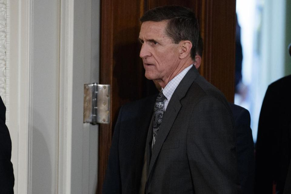 Michael Flynn at the White House on Monday.