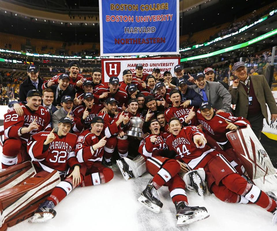 Harvard was No. 1 — in Boston, anyway — after defeating BU, 6-3, in the title game.