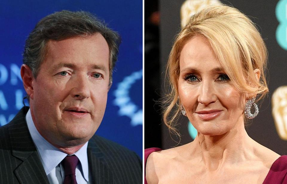 Piers Morgan (left) and J.K. Rowling