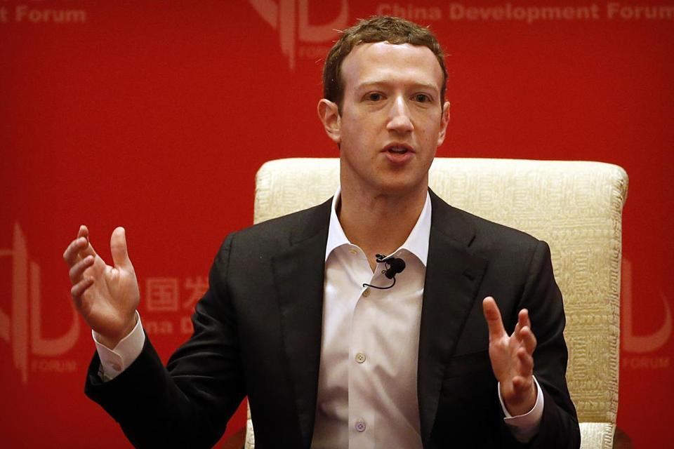 FILE - In this Saturday, March 19, 2016, file photo, Facebook CEO Mark Zuckerberg speaks during a panel discussion held as part of the China Development Forum at the Diaoyutai State Guesthouse in Beijing. Zuckerberg released a missive Thursday, Feb. 16, 2017, outlining his vision for the social network and the world at large. Among other things, Zuckerberg hopes that the social network can encourage more civic engagement, an informed public and community support in the years to come. (AP Photo/Mark Schiefelbein, File)