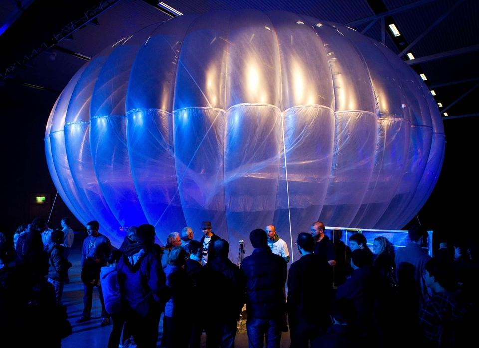 A Project Loon balloon created by X Lab, which is owned by Google's corporate parent, was on display in Christchurch, New Zealand, in 2013.