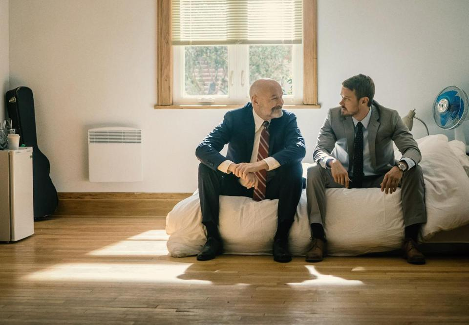 "Terry O'Quinn (left) and Michael Dorman in ""Patriot."""