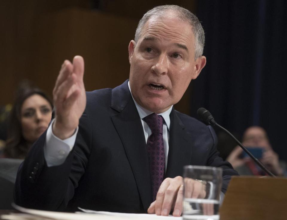 Scott Pruitt will run the Environmental Protection Agency.