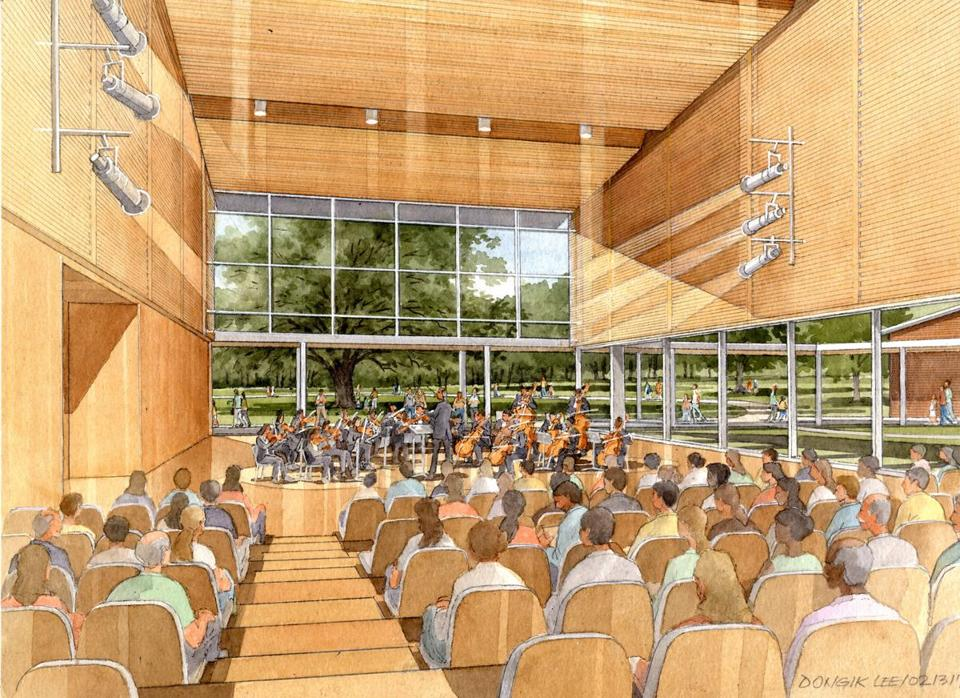 A look at one of the renderings for the expanded Tanglewood.