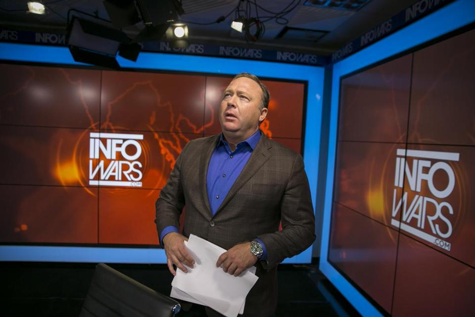 President Trump has expressed admiration for talk-radio host Alex Jones (above).