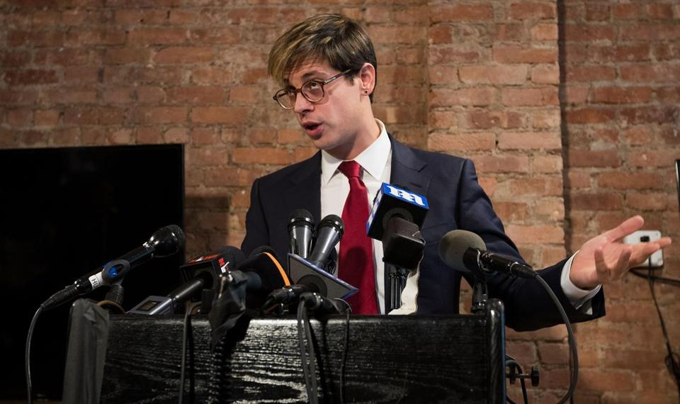 Milo Yiannopoulos announced his resignation from Breitbart News during a press conference Tuesday.