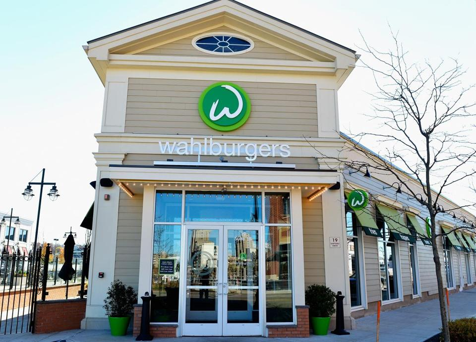 HINGHAM, MA - NOVEMBER 13: Exterior Views Of Wahlburgers Family Restaurant on November 13, 2013 in Hingham, Massachusetts. It was just announced that owners Mark Wahlberg and Donnie Wahlberg will produce and star in an upcoming A&E reality show based around the restaurant that they own. (Photo by Paul Marotta/Getty Images)