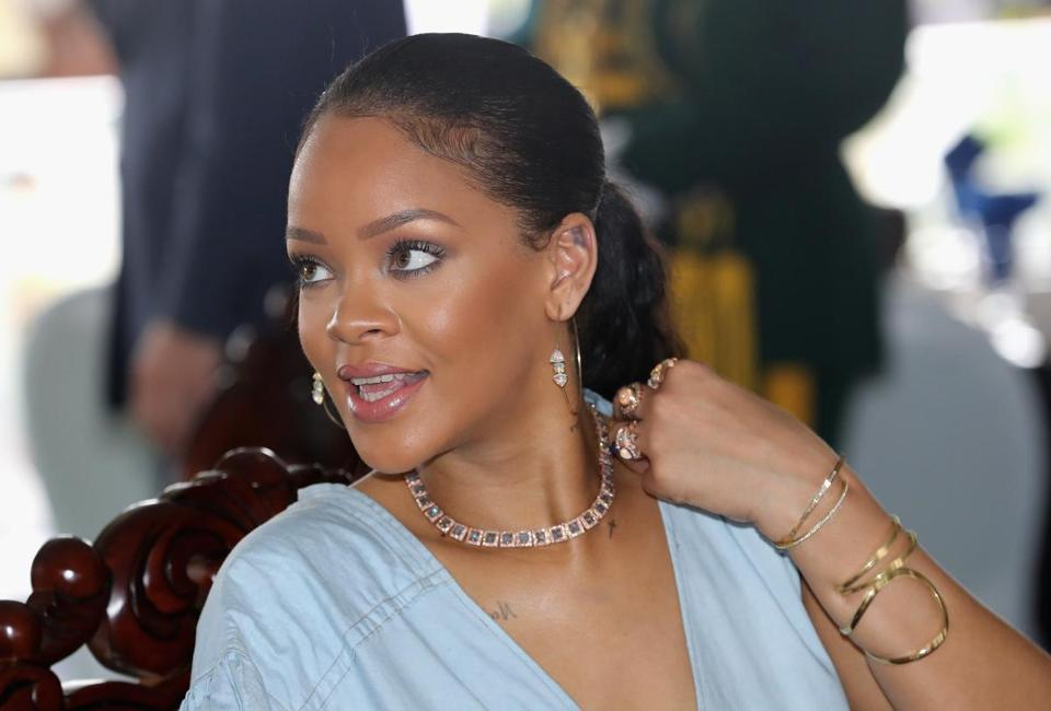 Rihanna (pictured in Barbados in November) will be honored by the Harvard Foundation Feb. 28.