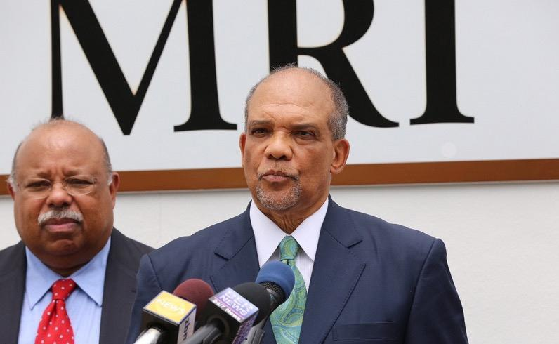 23bermuda - Former Premier and founder of Bermuda Healthcare Services Dr. Ewart Brown held a press conference on June 16, 2016, to address the arrest of Dr. Mahesh Reddy. Dr. Reddy had his home raided by police officers based on a suspicion that he had been overusing MRI and CT scanners. (Bernews)