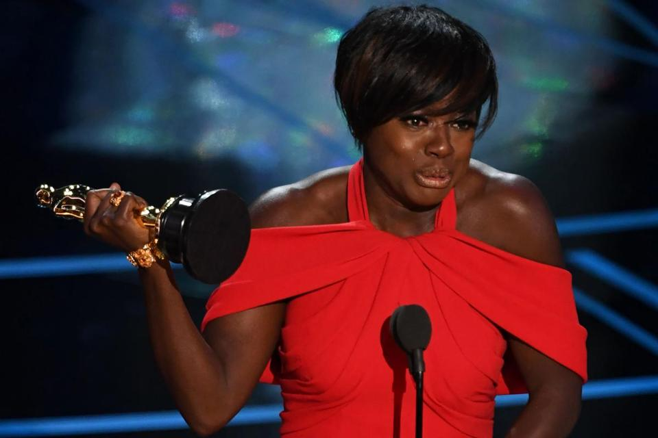 "Actress Viola Davis won the award for best supporting actress, for her role in ""Fences."""